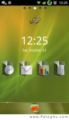 دانلود لانچر زیبای GoLauncher ex Theme Windowsoid v1.0 آندروید