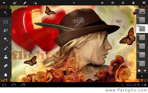 دانلود نرم افزار فتوشاپ برای تبلت های آندروید - Adobe Photoshop Touch v1.0.0