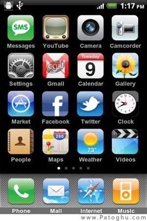 تغییر منو گوشی آندروید به آیفون با iLauncher iPhone 1.3.0.2