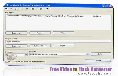 تبدیل فرمت های ویدیویی به فرمت فلش با نرم افزار Free Video to Flash Converter 5.0.3