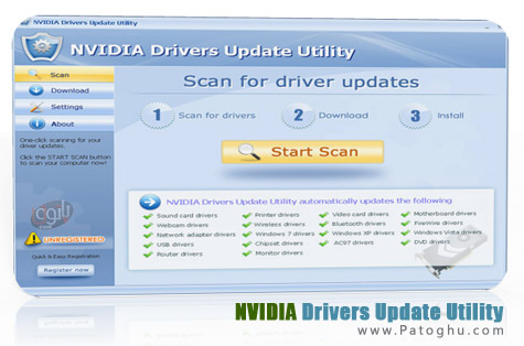 بروز رسانی درایورهای قطعات Nvidia با NVIDIA Drivers Update Utility 4.0