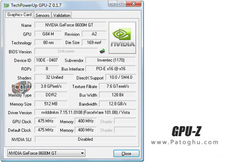 بررسی تخصصی کارت گرافیک کامپیوتر با GPU-Z 0.5.6