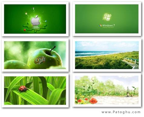 دانلود مجموعه پس زمینه سبز ویندوز با کیفیت بالا - Green Color Wallpaper