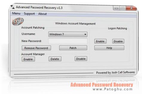 بازیابی و حذف پسورد اکانت های ویندوز با Advanced Password Recovery v1.3
