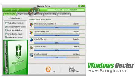 بهینه سازی و افزایش امنیت ویندوز با Windows Doctor v2.7.0.0