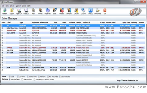 مدیریت و مشاهده وضعیت درایوهای ویندوز با Drive Manager 4.1