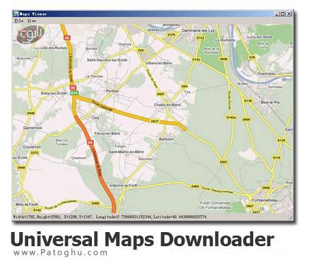 دانلود نقشه های مختلف با SoftOnPc Universal Maps Downloader v6.65