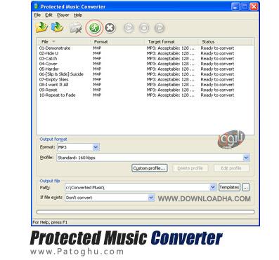 تبدیل سریع فایل های صوتی با Protected Music Converter v1.9.7.2