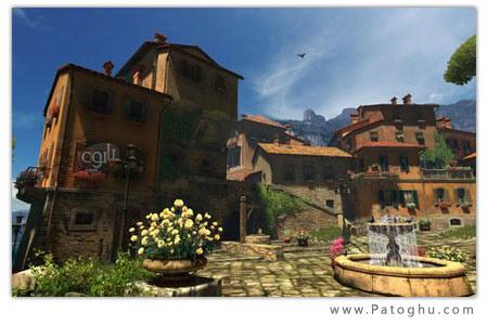 اسکین سیور زیبا و سه بعدی Sunny Patio 3D Screensaver v 1.0 Build 1