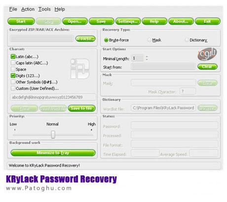 بازیابی رمزهای مختلف با KRyLack Password Recovery 3.40.52