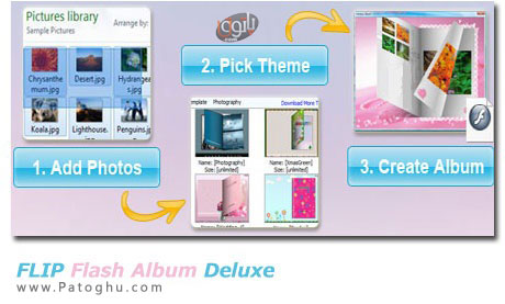 ساخت آسان آلبوم های فلش از تصاویر با FLIP Flash Album Deluxe v2.4