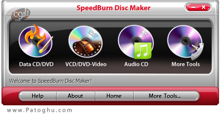 رايت سريع CD و DVD با SpeedBurn Disc Maker v3.0.1