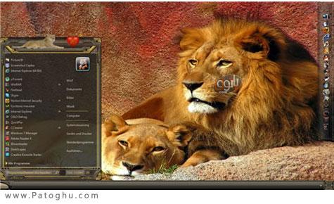 دانلود تم زيباي ويندوز سون با نام Lion Queen Theme