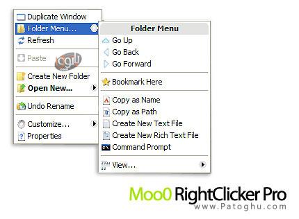 مديريت منوي راست کليک با Moo0 RightClicker Pro 1.47