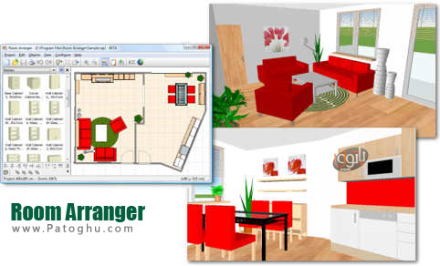 طراحی مجازی اتاق ها با Room Arranger