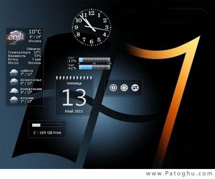 دانلود مجموعه 6 گدجت شیشه ای برای ویندوز 7 و ویستا