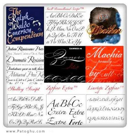 دانلود پکیج فونت های کمیاب Typadelic - Wedding Fonts