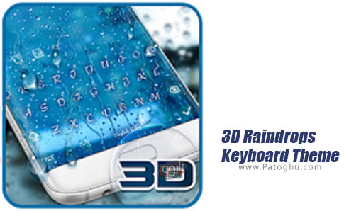 دانلود 3D Raindrops Keyboard Theme برای اندروید