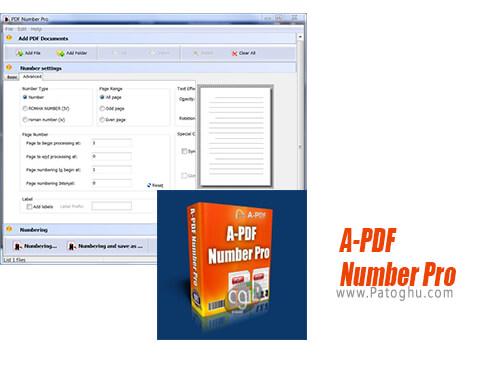 دانلود A PDF Number Pro برای ویندوز