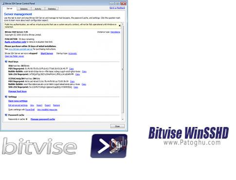 دانلود Bitvise WinSSHD برای ویندوز
