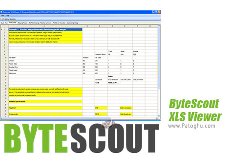دانلود ByteScout XLS Viewer برای ویندوز