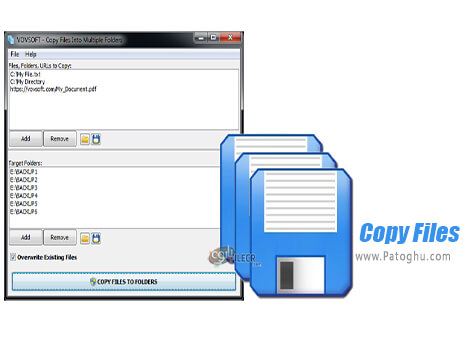 دانلود VovSoft Copy Files Into Multiple Folders برای ویندوز