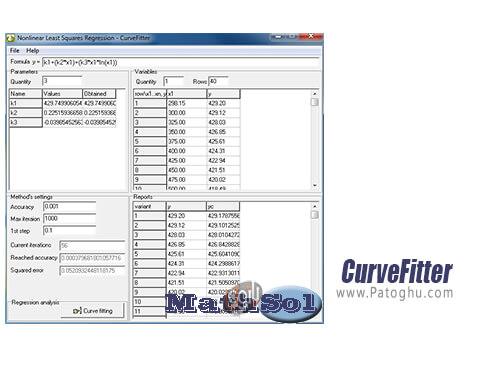 دانلود CurveFitter برای ویندوز