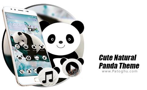 دانلود Cute Natural Panda Theme برای اندروید