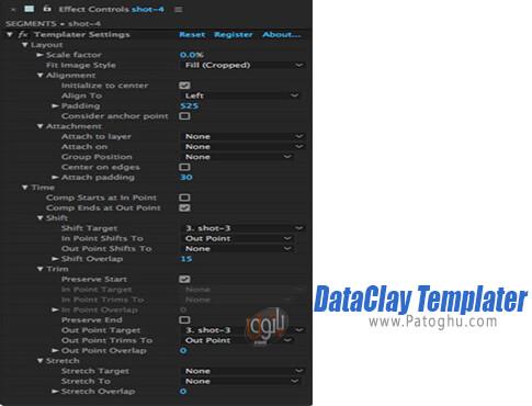 دانلود DataClay Templater برای ویندوز