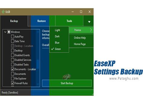 دانلود EaseXP Settings Backup برای ویندوز
