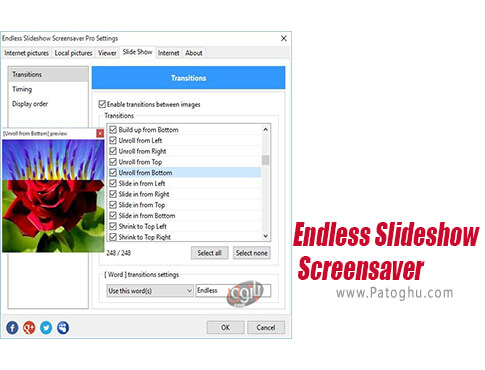 دانلود Endles Slideshow Screensaver برای ویندوز