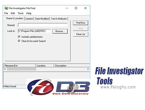 دانلود File Investigator Tools برای ویندوز