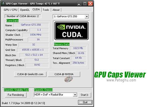 دانلود GPU Caps Viewer برای ویندوز