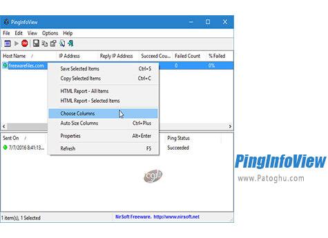 دانلود PingInfoView برای ویندوز