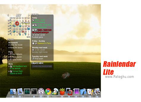 دانلود Rainlendar Lite برای ویندوز