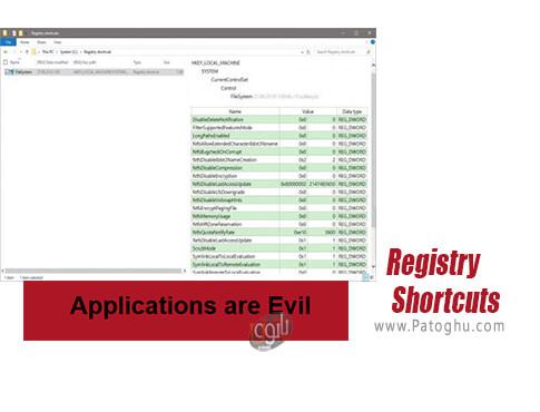 دانلود Registry Shortcuts برای ویندوز