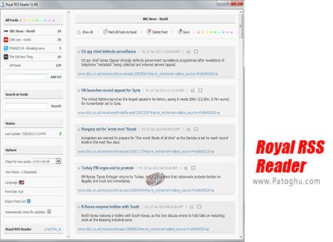 دانلود Royal RSS Reader برای ویندوز