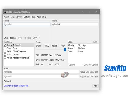 دانلود StaxRip برای ویندوز
