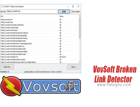 دانلود VovSoft Broken Link Detector برای ویندوز