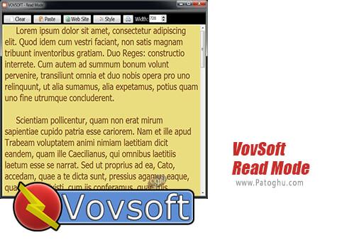 دانلود VovSoft Read Mode برای ویندوز