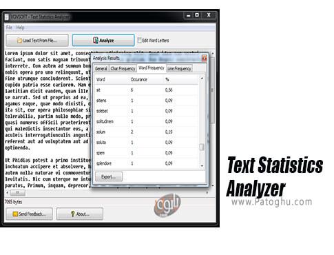 دانلود VovSoft Text Statistics برای ویندوز