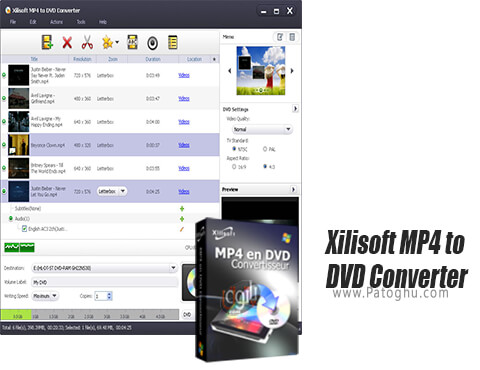 دانلود Xilisoft MP4 to DVD Converter برای ویندوز