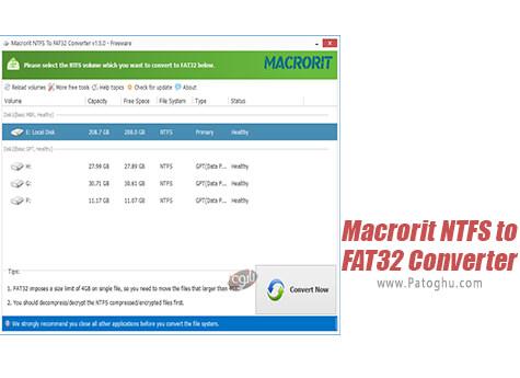 دانلود Macrorit NTFS to FAT32 Converter برای ویندوز